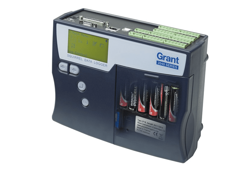 Grant SQ2040 Data Logger View of battery compartment